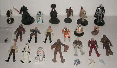 $ CDN126.56 • Buy Vintage Star Wars Action Figure & Toy Lot With 3 Mini Vehicles Kenner Hasbro