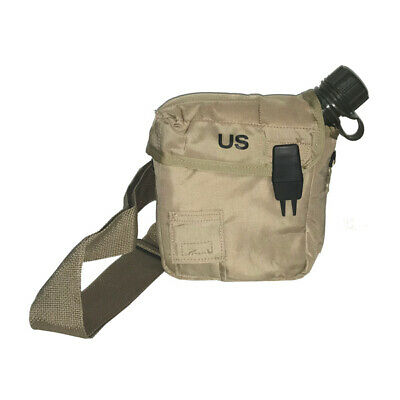 $ CDN31.28 • Buy US Military 2QT Collapsible Canteen W/ Desert Tan Cover Pouch & Strap (NEW)