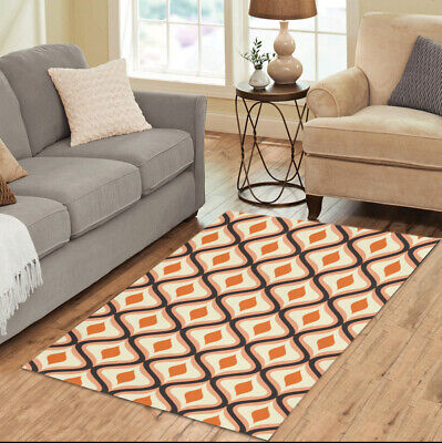 AU72.68 • Buy 70s Patterns Area Rugs Retro Vintage Funky Carpet - 3 Sizes To Choose From