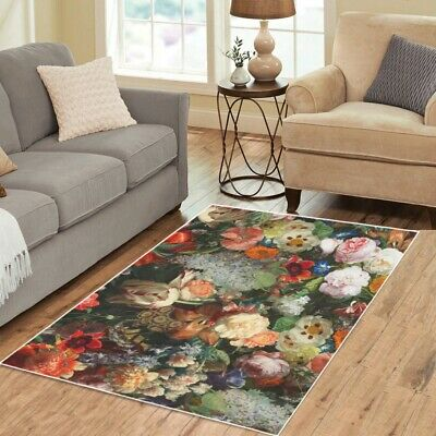 AU96.91 • Buy 70s Patterns Area Rugs Retro Vintage Funky Carpet - 3 Sizes To Choose From