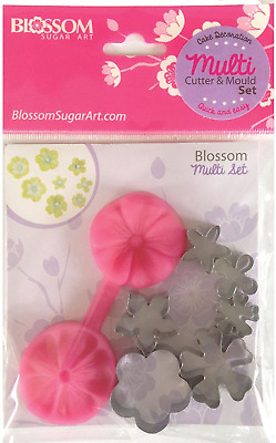 Blossom Sugar Art Blossom Multi Set Including Silicone Mould And Cutters, Pink, • 16.73£