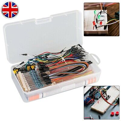 Electronics Starter Kit For Arduino UNO R3 Breadboard LED Jumper Wire Button • 11.99£