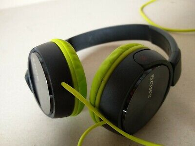 Sony Over Ear Wired Headphones Black & Green • 18.95£