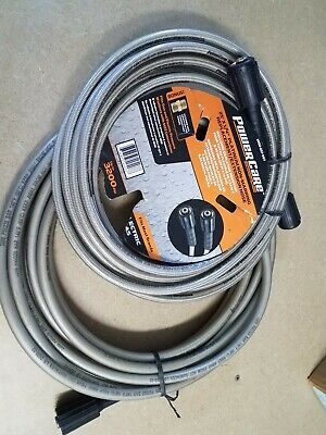 LOT OF 2 Power Care 25ft X ¼  3200psi M22 Connector Pressure Washer Hose  • 17.88£