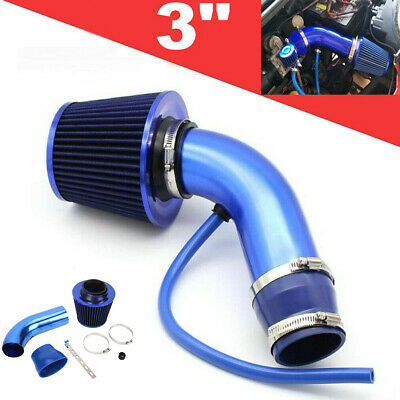 $33.97 • Buy Universal 3'' Car Cold Air Intake Filter Alumimum Induction Kit Pipe Hose System