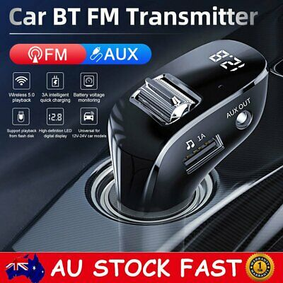 AU19.84 • Buy Wireless Bluetooth Car FM Transmitter MP3 Player 2 USB Charger Adapter Handsfree