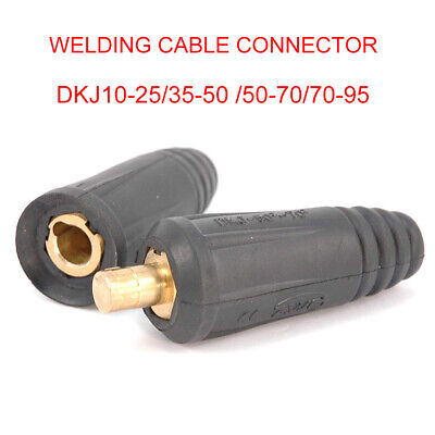 Dinze Dinse Type Welding Connectors - Cable Plug (Male) Or Socket (Female) New • 4.79£