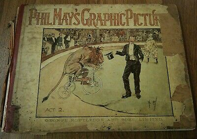 Phil May's Graphic Pictures. Landscape Hardback. Wonderful Illustrations  • 21.99£