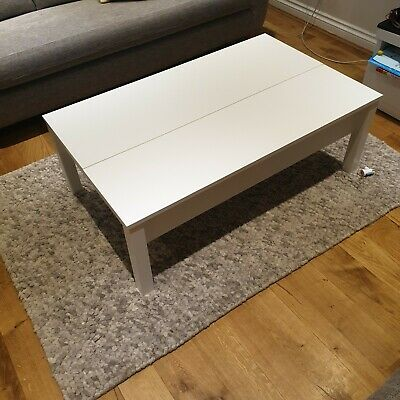 Ikea Trulstorp Coffee Table (white) With Storage. Used, Excellent Condition • 90£