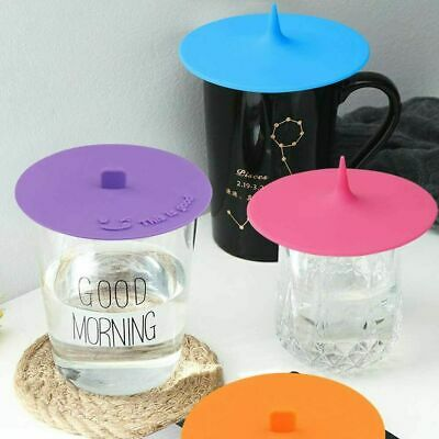£4.99 • Buy Pack Of 3* Silicone Cup Lid Glass Drink Cover Anti-dust Coffee Mug Suction Seal