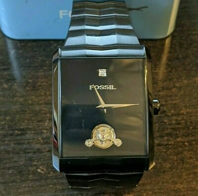 $350 • Buy Mens Watch Automatic Mechanical  Fossil Twist Black Chrome Excellent Condition