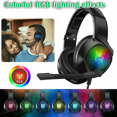 AU27.99 • Buy Gaming Headset Wired LED Headphones With Mic For Xbox One/PS4/PC/Nintendo Switch
