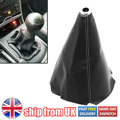 £6.49 • Buy Manual Gear Stick Shift Universal Black Leather Car Knob Cover Boot Gaiter New