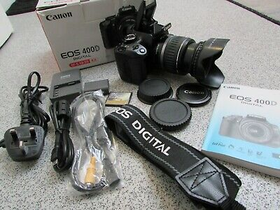 £150 • Buy Boxed Canon EOS 400D 10.1MP Digital SLR Camera With EF-S 18-55mm Lens (BL10)