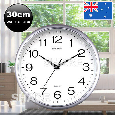 AU12.95 • Buy Wall Clock Quartz Round Square Wall Clock Silent Non-Ticking Battery Operated