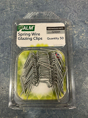 Pack Of  50 Greenhouse Spring Wire W Window Glazing Clips GH001 • 4.75£