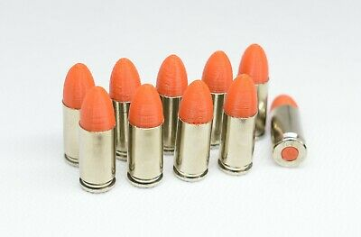 AU19.14 • Buy 9mm Nickel Snap Caps Dummy Rounds Safety Firearms Training 9x19