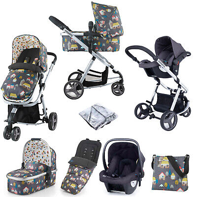 AU848.54 • Buy Cosatto Giggle 2 Stroller Travel System 3 In 1 Accessories Bundle Baby Car Seat