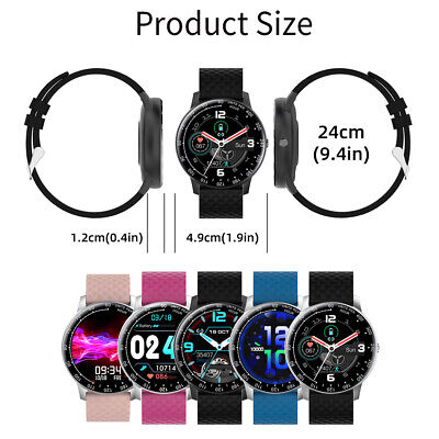 AU33.29 • Buy Smart Watch Bluetooth Heart Rate Blood Pressure IP68 Waterproof For IOS Android