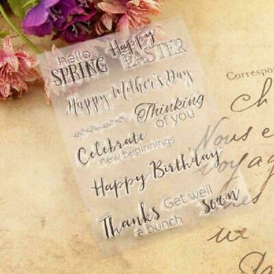 Happy Birthday - Easter Silicone Clear Stamp DIY Scrapbook Album Paper Card · UK • 4.77£