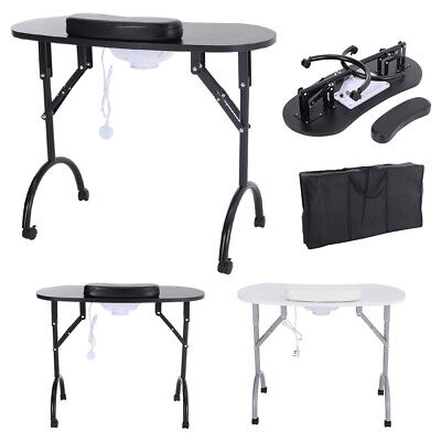 £105.95 • Buy Foldable Portable Manicure Table With Dust Collector Nail Bar Desk Beauty Salon