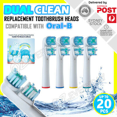AU5.90 • Buy DUAL CLEAN Oral-B Compatible Electric Toothbrush Replacement Brush Heads