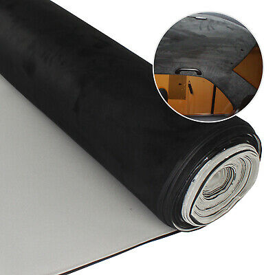$24.39 • Buy 60 X54  Black Suede Headliner Material Replacement Fabric Upholstery Backed Foam