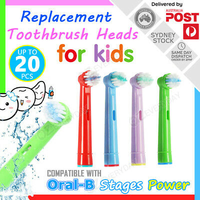 AU19.80 • Buy Children Kids Replacement Brush Heads For Oral-B Braun Stages Power Toothbrush