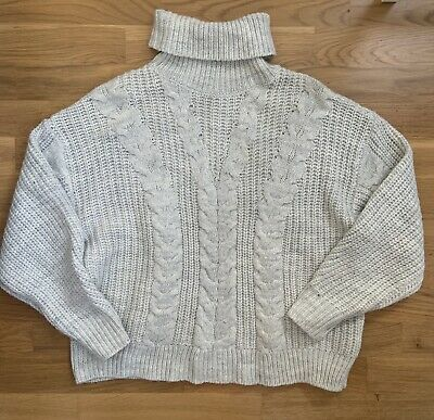 Hardly Worn Primark Womens XS (size 6/8) Grey Knitted Slouchy Jumper • 6£