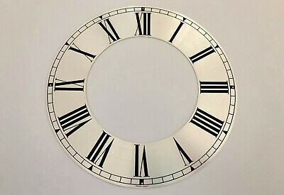 £24.79 • Buy NOS West German Silver Metal Clock Dial Face Roman Numerals 9-5/8IN From DENMARK