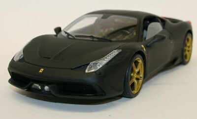 Hot Wheels Elite 1/18 Scale Model Car BLY33 - Ferrari 458 Speciale - Matt Black • 119.99£