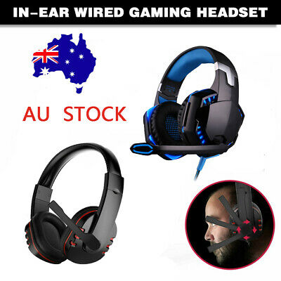 AU29.99 • Buy 3.5mm Gaming Headset Headphones Surround Mic For PC Laptop PS4 Xbox One Set