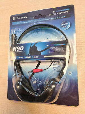 £8 • Buy DYNAMODE N90 STEREO HEADSET With MICROPHONE For Skype PC Computer Gaming | 3.5mm