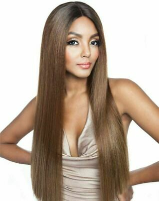 £29.99 • Buy Brown Sugar SOFT SWISS LACE FRONT,LONG & STRAIGHT Full WIGBS230HumanHairstylemix