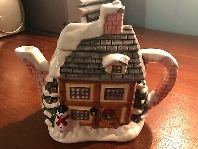 £12.50 • Buy Annie Rowe The Village Collection Christmas Snow Cottage Teapot