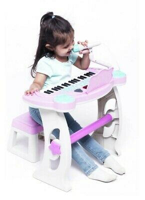 £49.99 • Buy Chad Valley Keyboard Stand Stool Pink Shade Kids Creative Music Sounds Play Set