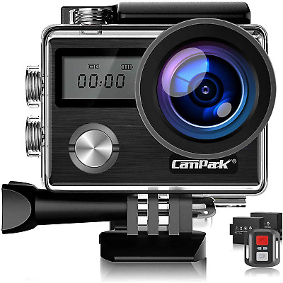 Campark 4K 20MP Action Camera WiFi Underwater 40M Waterproof Camcorder With EIS • 50.81£