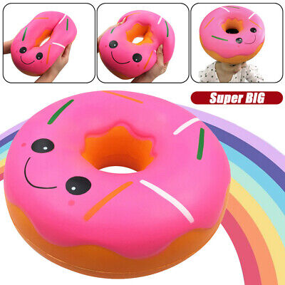 AU39.82 • Buy Squishies Jumbo Giant Doughnut Slow Rising Fruit Scented Stress Relief Toys Gift