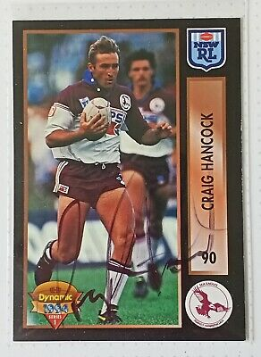 AU7 • Buy 1994 Nrl Dynamic Series 1 Manly & Saints & Broncos - Individually Signed Cards.