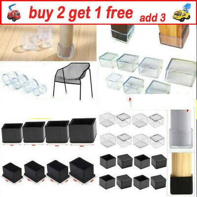 AU10.99 • Buy Silicone Rubber Chair Leg Caps Feet Pads Furniture Covers Floor Protector QWAU