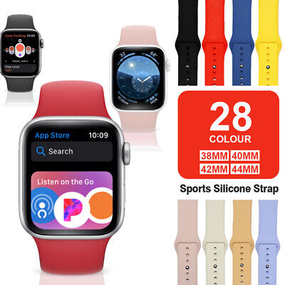 $3.95 • Buy Band Strap For Apple Watch Sports Series 6 5 4 3 2 1 SE 38/40/42/44mm