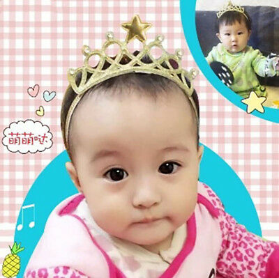 $ CDN1.01 • Buy Fashion Hair Accessories Glittering Baby Holiday 1 PC Crown Crown Headband CH
