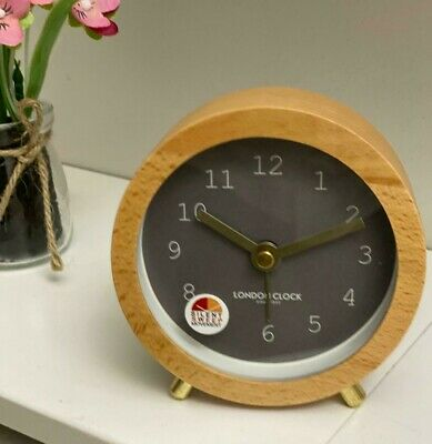 London Clock Company Freding Cool Grey Alarm Clock 04296 • 17.99£