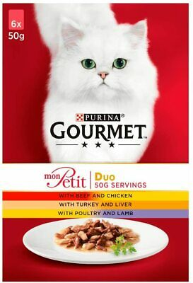 Gourmet Mon Petit Wet Cat Food Game Liver And Beef 6x50g (6 Pouches) • 8£