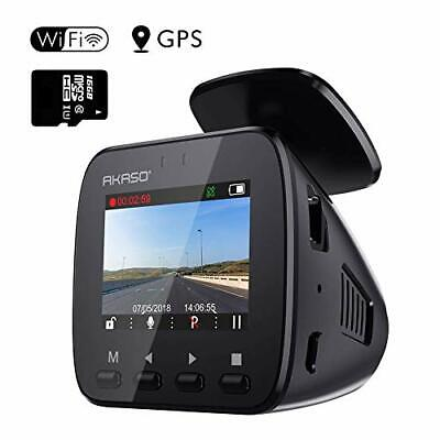AU139.52 • Buy Wifi Dash Cam With GPS, 1296P Full HD Dash Camera For Cars With 16GB
