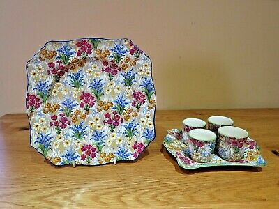 $ CDN76.68 • Buy Royal Winton Grimwades Egg Cup's & Plate = Matching Toast Plate = Summertime