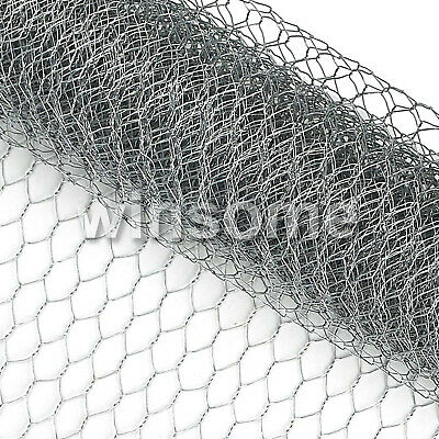 £11.50 • Buy Galvanised Chicken Rabbit Wire Mesh Animal Fence Garden Netting Fencing Cages