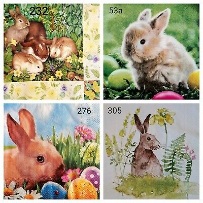£1.40 • Buy 4 X Mixed Table Paper Napkins,Decoupage/Craft/Vintage/ Easter 🐣