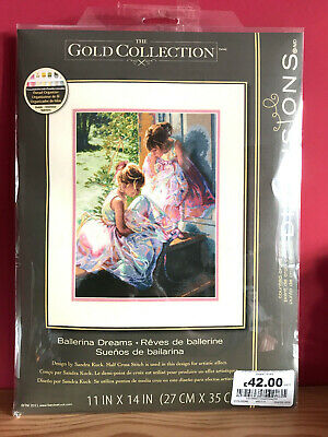 Dimensions Gold Collection Ballerina Dreams Counted Cross Stitch Kit 11x14 35280 • 36.95£