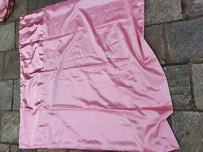 Next Curtains Coral/pink Silky Tab Top • 5.99£